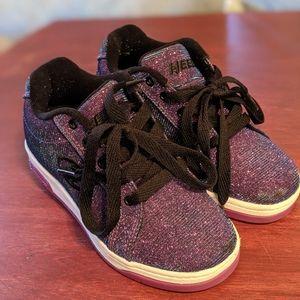 Heelys Purple Glitter Galaxy Girls Size 1
